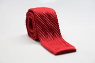 Red Knit Necktie