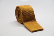 Mustard Knit Necktie