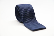 Navy Blue Knit Necktie
