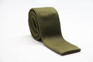 Olive Knit Necktie