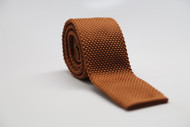 Brown Knit Necktie