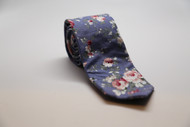 Paris Blue Floral Necktie