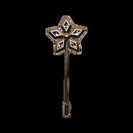 Geo Flower Rose Gold Lapel Pin