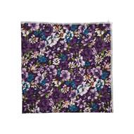 Purple Spring Flower Patch Pocket Square