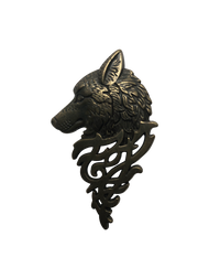 Big Wolf Head Lapel Pin