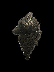 Big Wolf Head Lapel Pin