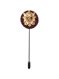 Burgundy Crest Lapel Pin