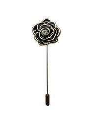 Black Gold Diamond Lapel Pin