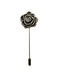 Black Gold Diamond Lapel Pin