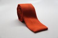 Pumpkin Knit Necktie