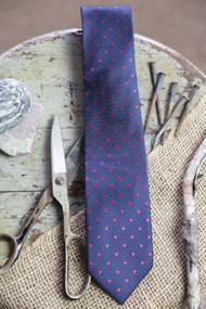 Navy w/ Red Dot Necktie