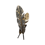 Grande Double Leaf Lapel Pin