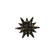 Silver Diamond Burst Lapel Pin