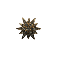 Gold Diamond Burst Lapel Pin