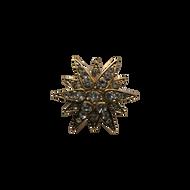 Gold Diamond Burst Lapel Pin