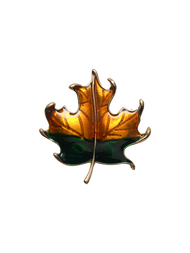 Honey Green Leaf Lapel Pin