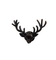 Rustic Brown Deer Head Pin