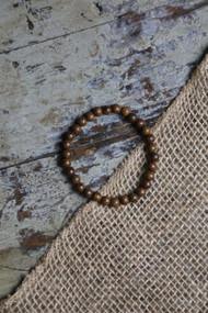 Small Walnut Bead Bracelet