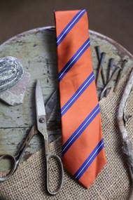 Burnt Orange Stripe Necktie