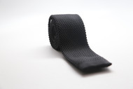 Black Knit Necktie