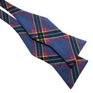 Blue Plaid Bow Tie