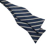 Blue Stripe Bow Tie