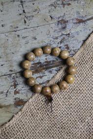 Jumbo Wood Bead Bracelet