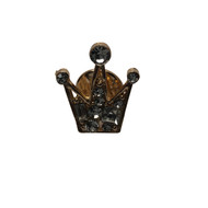 Diamond Crown Lapel Pin