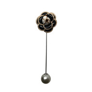 Black Pearl Lapel Pin