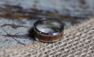 Stainless Steel and Wood Ring (size 10)