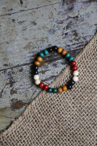Mixed Color Bead Bracelet