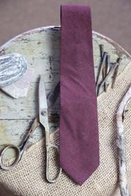 Burgundy Cotton Necktie