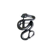 Silver Snake Lapel Pin