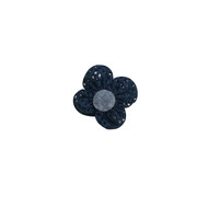 Blue Fabric Flower Pin