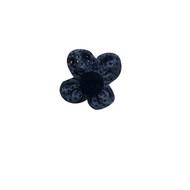 Grey Fabric Flower Pin