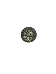 Green Flower Glass Lapel Pin