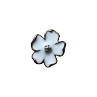 Gold Leaf Daisy Lapel Pin