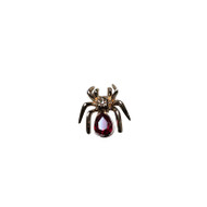 Ruby Spider Lapel Pin