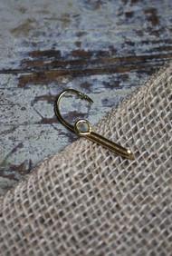 Gold Fish Hook Tie Bar