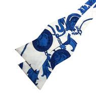 Greek Blue Bow Tie