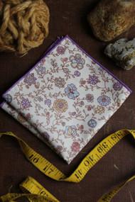 Vintage Rose Pocket Square