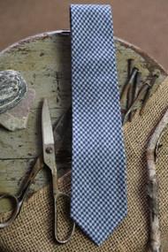 Blue Houndstooth Necktie