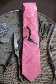 Pink Bay Flower Necktie