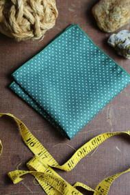 Green Dot Pocket Square