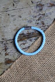 Robbins Egg Blue Leather Bracelet