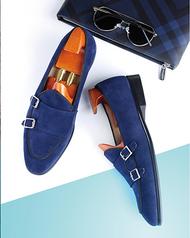 Blue Monk Suede Loafer