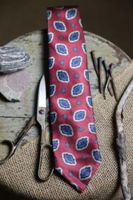 Unmarked Burgundy with Blues Necktie
