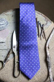 Classic Blue Dot Vintage Inspired Necktie
