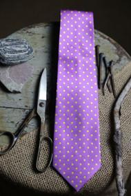 Classic Pink Dot Vintage Inspired Necktie