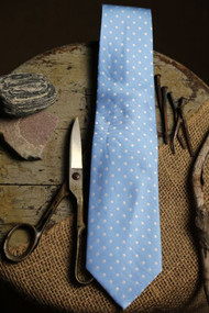 Classic Baby Blue Dot Vintage Inspired Necktie